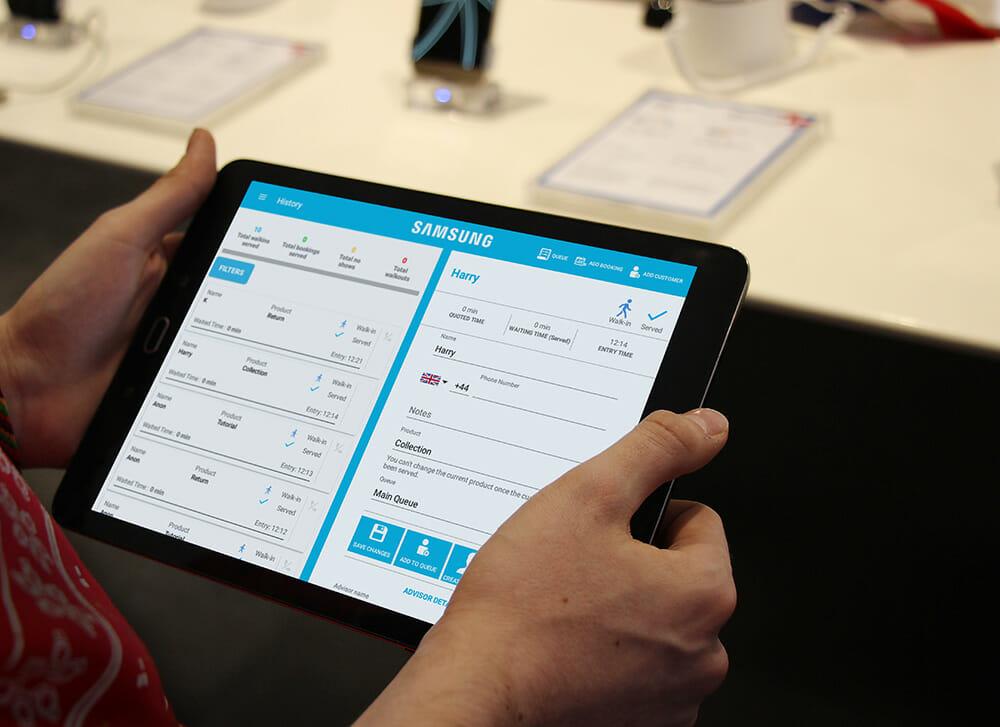 Samsung Store Queuing App Qudini