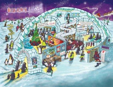 The Qudini Christmas Penguin Campaign 2018