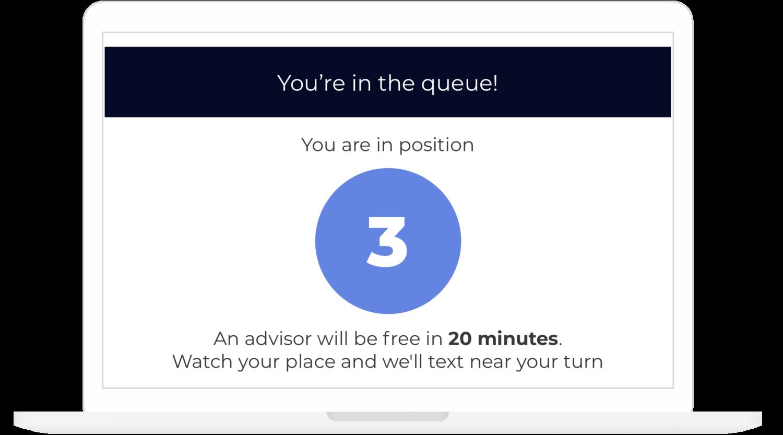 Virtual queue for an advisor